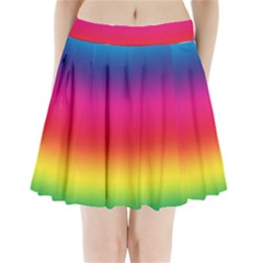 Spectrum Background Rainbow Color Pleated Mini Skirt