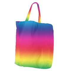 Spectrum Background Rainbow Color Giant Grocery Zipper Tote by Celenk