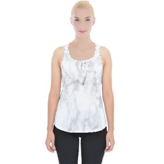 White Background Pattern Tile Piece Up Tank Top