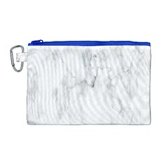 White Background Pattern Tile Canvas Cosmetic Bag (large) by Celenk