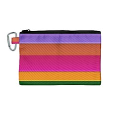 Stripes Striped Design Pattern Canvas Cosmetic Bag (medium) by Celenk