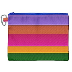 Stripes Striped Design Pattern Canvas Cosmetic Bag (xxl) by Celenk
