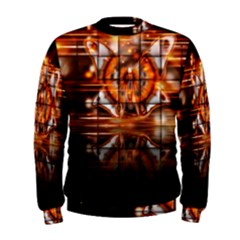 Butterfly Brown Puzzle Background Men s Sweatshirt
