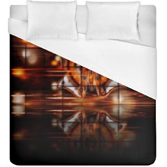 Butterfly Brown Puzzle Background Duvet Cover (king Size)