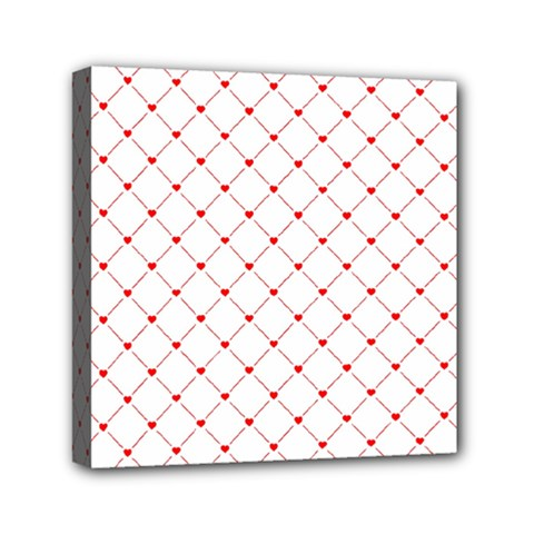 Hearts Pattern Love Design Mini Canvas 6  X 6