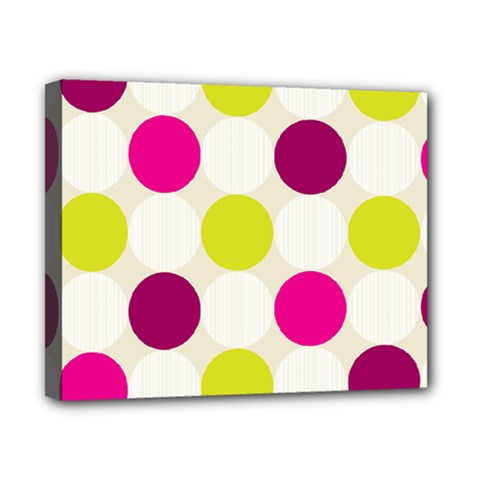 Polka Dots Spots Pattern Seamless Canvas 10  X 8