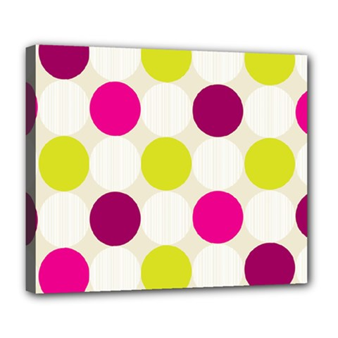Polka Dots Spots Pattern Seamless Deluxe Canvas 24  X 20