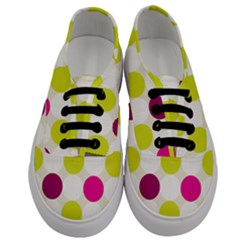 Polka Dots Spots Pattern Seamless Men s Classic Low Top Sneakers