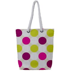 Polka Dots Spots Pattern Seamless Full Print Rope Handle Tote (small) by Celenk