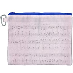 Vintage Pink Music Notes Canvas Cosmetic Bag (xxxl) by Celenk