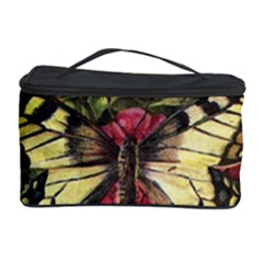 Vintage Butterfly Flower Cosmetic Storage Case by Celenk