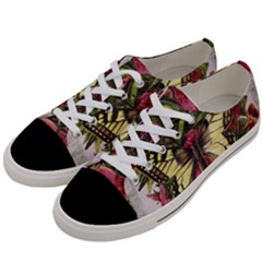 Vintage Butterfly Flower Women s Low Top Canvas Sneakers by Celenk
