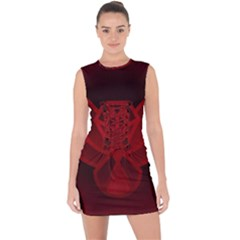 Bird Owl Eagle Owl Fragment Lace Up Front Bodycon Dress