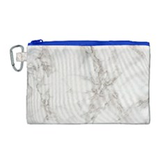 Marble Background Backdrop Canvas Cosmetic Bag (large) by Celenk