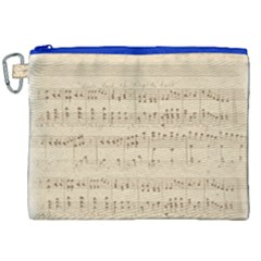 Vintage Beige Music Notes Canvas Cosmetic Bag (xxl) by Celenk