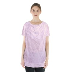 Marble Background Texture Pink Skirt Hem Sports Top by Celenk
