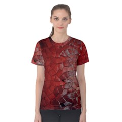 Pattern Backgrounds Abstract Red Women s Cotton Tee
