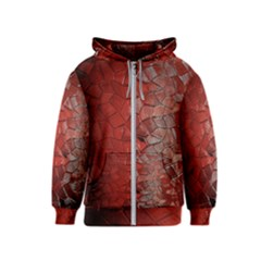 Pattern Backgrounds Abstract Red Kids  Zipper Hoodie