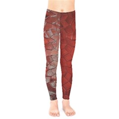 Pattern Backgrounds Abstract Red Kids  Legging by Celenk