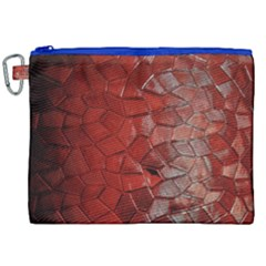 Pattern Backgrounds Abstract Red Canvas Cosmetic Bag (xxl)