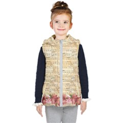 Background Old Parchment Musical Kid s Puffer Vest
