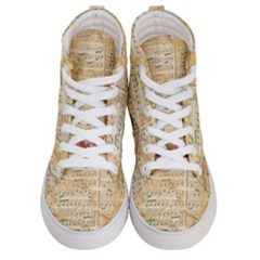 Background Old Parchment Musical Women s Hi Top Skate Sneakers