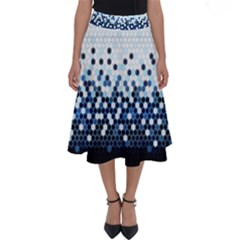 Tech Camouflage Perfect Length Midi Skirt