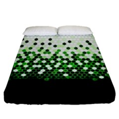 Tech Camouflage 2 Fitted Sheet (queen Size) by jumpercat