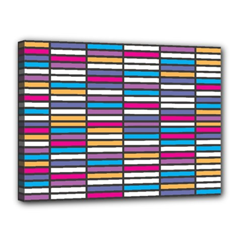 Color Grid 01 Canvas 16  X 12  by jumpercat