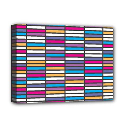 Color Grid 01 Deluxe Canvas 16  X 12   by jumpercat