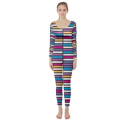 Color Grid 01 Long Sleeve Catsuit