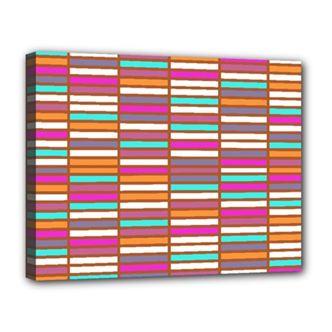 Color Grid 02 Canvas 14  X 11  by jumpercat
