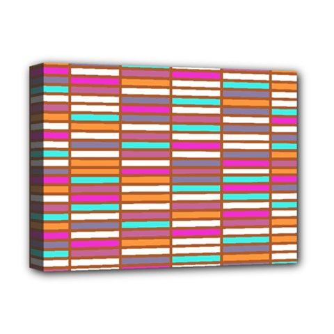 Color Grid 02 Deluxe Canvas 16  X 12   by jumpercat