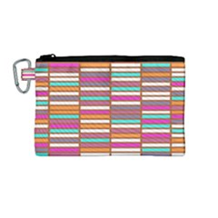 Color Grid 02 Canvas Cosmetic Bag (medium) by jumpercat