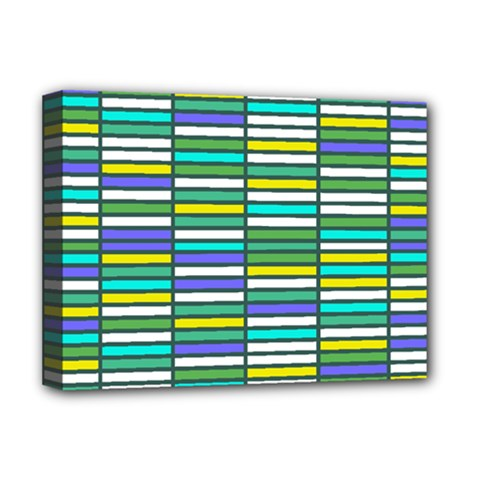 Color Grid 03 Deluxe Canvas 16  X 12   by jumpercat