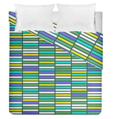 Color Grid 03 Duvet Cover Double Side (queen Size) by jumpercat
