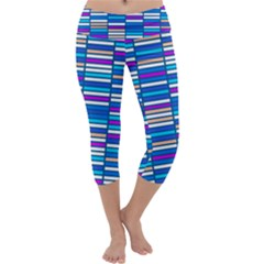 Color Grid 04 Capri Yoga Leggings