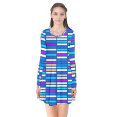 Color Grid 04 Flare Dress