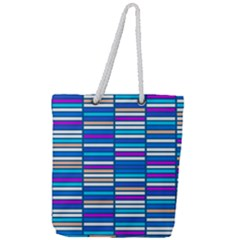 Color Grid 04 Full Print Rope Handle Tote (large) by jumpercat
