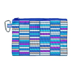 Color Grid 04 Canvas Cosmetic Bag (large)