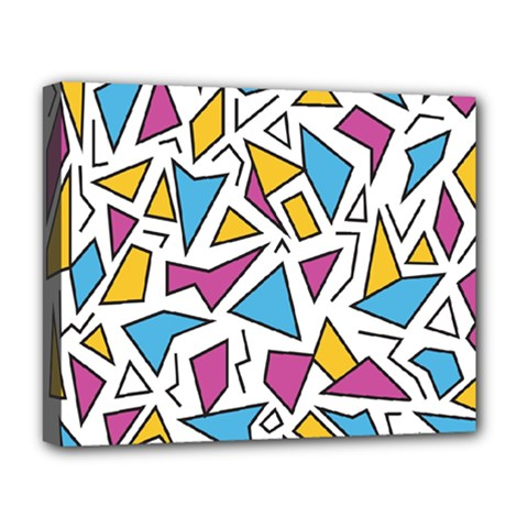 Retro Shapes 01 Deluxe Canvas 20  X 16