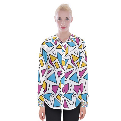 Retro Shapes 01 Womens Long Sleeve Shirt by jumpercat