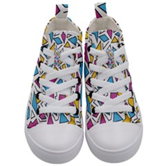 Retro Shapes 01 Kid s Mid-top Canvas Sneakers