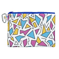 Retro Shapes 01 Canvas Cosmetic Bag (xl) by jumpercat