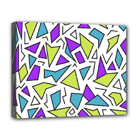 Retro Shapes 02 Deluxe Canvas 20  X 16   by jumpercat