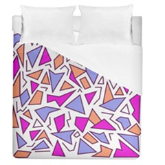 Retro Shapes 03 Duvet Cover (queen Size) by jumpercat