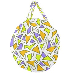Retro Shapes 04 Giant Round Zipper Tote by jumpercat