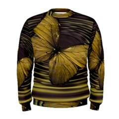 Butterfly Insect Wave Concentric Men s Sweatshirt by Celenk