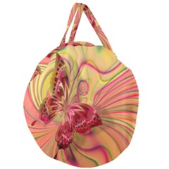 Arrangement Butterfly Aesthetics Giant Round Zipper Tote