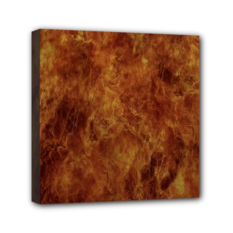 Abstract Flames Fire Hot Mini Canvas 6  X 6  by Celenk